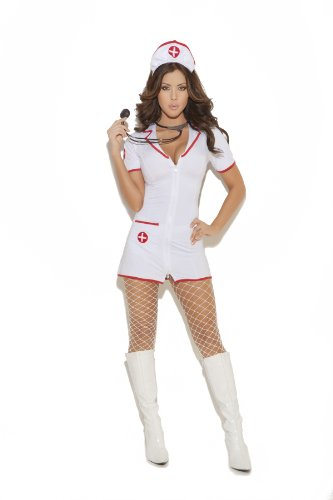 Large Head Halloween Costume (Elegant Moments Women's Head Nurse, White, Large)