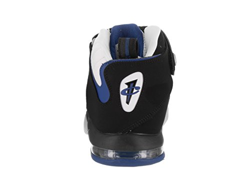Nike Herren Air Penny IV Basketballschuhe Weiß / Schwarz / Atlantisches Blau