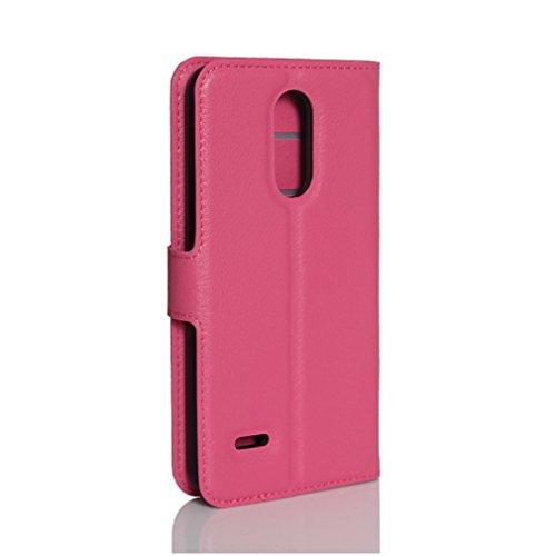 Funda LG K4(2017),Manyip Caja del teléfono del cuero,Protector de Pantalla de Slim Case Estilo Billetera con Ranuras para Tarjetas, Soporte Plegable, Cierre Magnético G