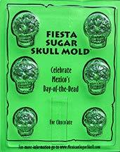 (Sugar Skull Chocolate Mold - Fiesta - Candy Making Mold)