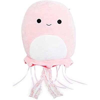 "Squishmallow Kellytoy 12"" Jayda The Pink Jellyfish Sealife Plush Toy: Toys & Games"