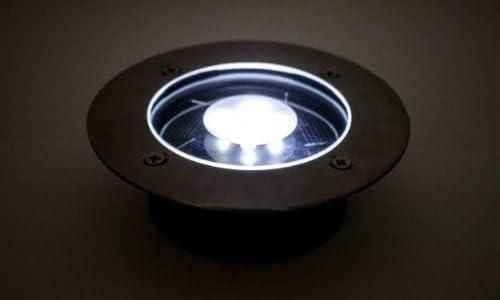 Solar White LED Round Recessed Deck Dock Patio Light