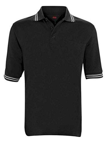 Adams USA Short Sleeve Baseball Umpire Shirt with Vent - Sized for Chest Protector, Black, Small - Baseball Umpire Uniforms