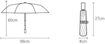 Female Dual-use Umbrella Sun Umbrella Vinyl Sun Umbrella UV Protection Qeeuanl Three Fold Double Folding Umbrella