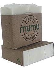 MUMU HANDCRAFTED ALL NATURAL RICE SOAP BAR - VEGAN, NO CHEMICAL, COLD PROCESS 125 gram(4.4 oz)