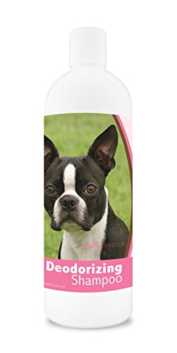 Healthy Breeds Dog Deodorizing Shampoo For Boston Terrier - Over 200 Breeds - For Itchy Sensitive Dry Flaking Scaling Skin & Coat - Hypoallergenic Formula & Ph Balanced - 16 Oz