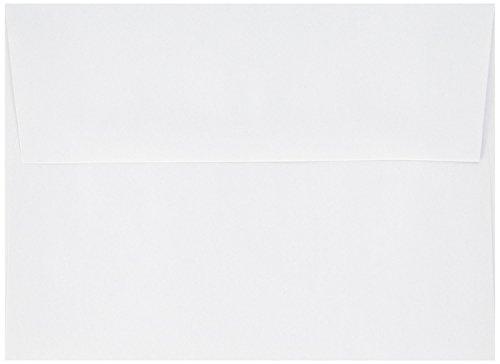 1000 White A2 (4 3/8 X 5 3/4) Fits 4x5 Invitation Photo Wedding Announcement Envelopes by CNC INC