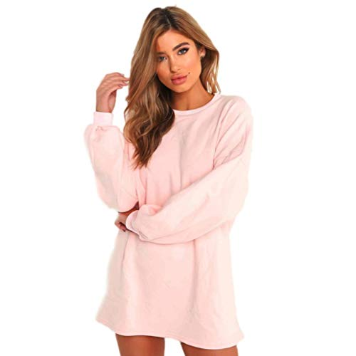 Big Promotion!Toimoth Sexy Women Cotton Sweatshirt Long Sleeve Pullovers Blouse Tops(Pink,M) ()