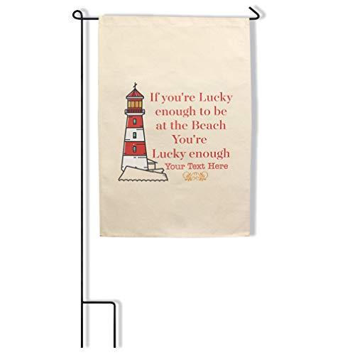 Style In Print Custom Home Decor Garden Flag Lighthouse Memorial If You're Lu... Cotton Canvas Outdoor & Patio Decor 18x27 Inches Flag Only