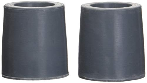 1 Guardian Utility Tips - Drive Medical Replacement Utility Tips for Canes, Walkers and Commodes, Grey