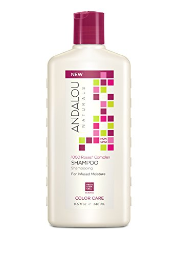 Andalou Naturals 1000 Roses Complex Color Care Shampoo, 11.5 Ounce Bottle
