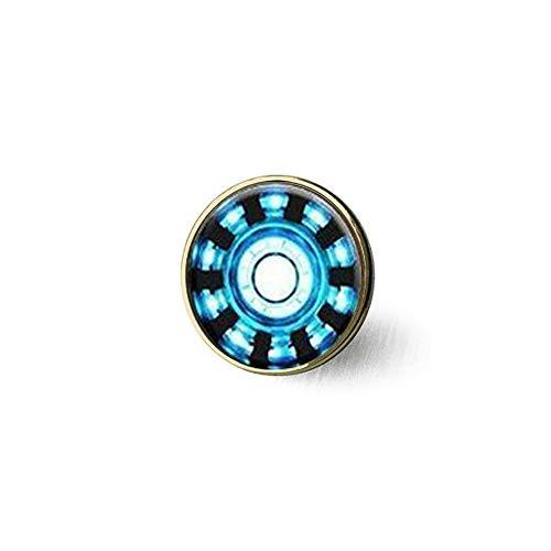 (nspired Arc Reactor Pendant, Tony Stark Arc Reactor Inspired Necklace,Pendant,Round Arc Reactor Brooch Literary Jewelry)