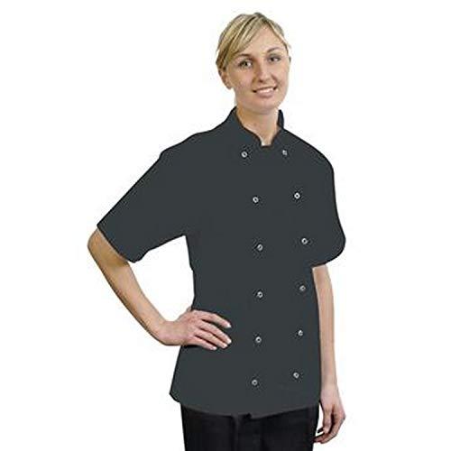 - BonChef Adults Danny Short Sleeved Chef Jacket (M) (Black)