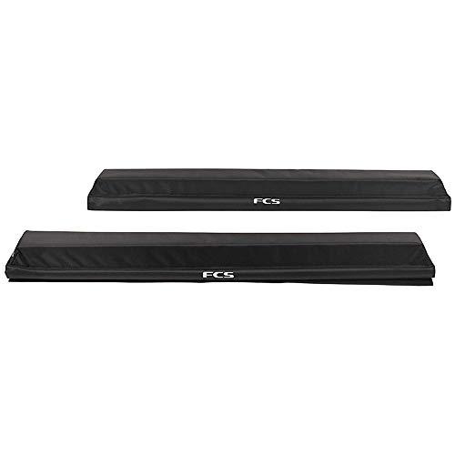 FCS Surf Premium SUP Hard Rack Pads Roof Racks Pads (Pair) Black