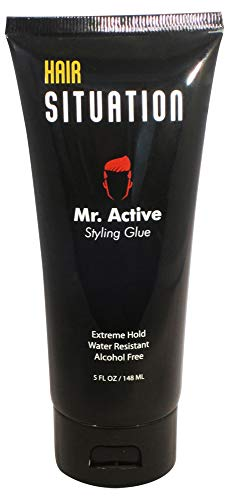 Hair Gel for Men - Extreme Hold & Alcohol Free - Mr. Active Styling Glue