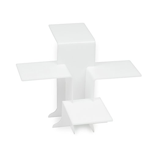 Source One Acrylic Pedestal Display for Jewelry, 4-Tiered Riser for Countertop Use (1 Pack, White) (White Display Pedestal compare prices)