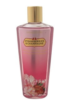 - Victoria's Secret Strawberries and Champagne Women's 8.4-ounce Body Wash