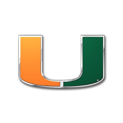 (Team ProMark NCAA Miami Hurricanes Die Cut Color Auto Emblem )