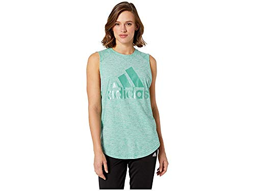 adidas Women's Winners ID Muscle Tank True Green/White Medium ()