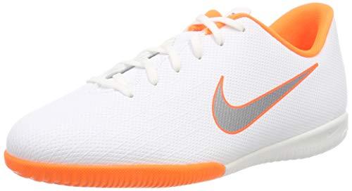 Nike Junior VaporX 12 Academy Indoor Shoes (5 M US Big Kid) White/Grey