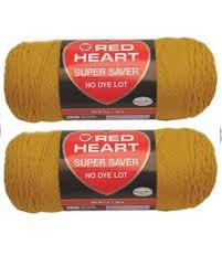 Bulk Buy: Red Heart Super Saver (2-pack) (Gold)