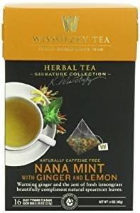 Wissotzky Tea Nana Mint With Ginger And Lemon 1.4 Oz. Pack Of 3.