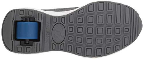 Heelys Boys' Piper Tennis Shoe Grey Heathered/Royal 8 M US Big Kid by Heelys (Image #3)