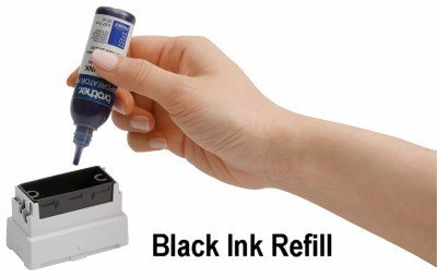 Ink Refill for StampCreator - Rubber Stamp Ink Refill (Black) by StampCreator