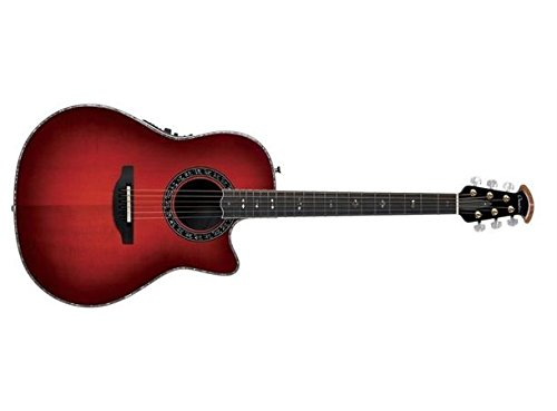 (Ovation American LX Series 6 String Acoustic-Electric Guitar, Right, Cherry Burst (C1869LX-CCB))