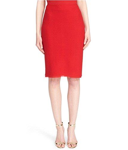 St. John Womens Textural Twill Pencil Skirt Paprika 14 (Wool Twill Skirt)