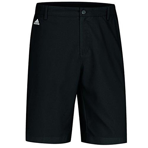 adidas Golf Climalite 3-Stripes Tech Shorts, Black/White, 36-Inch