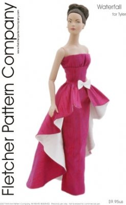"""Waterfall Printed Sewing Pattern for 16"""" Tyler Wentworth Doll"""
