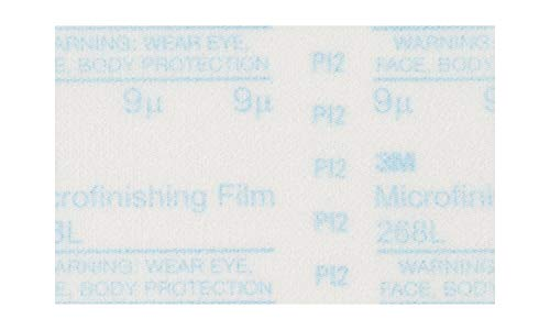 3M Microfinishing PSA Film Disc 268L, 12 in x NH, 15 Micron, Type D, Die 1200B ()
