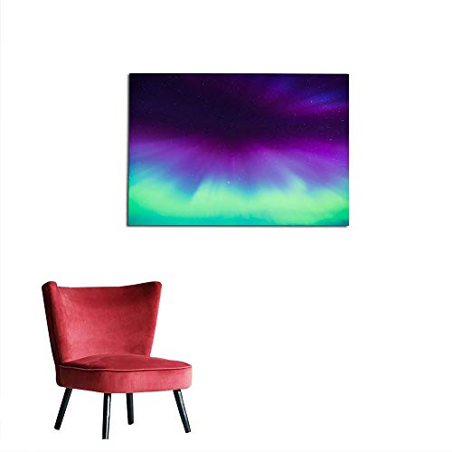 Wall Picture Decoration Northern Lights (Aurora Borealis) in The sky11 Poster Print W23.6 x L19.7 ()