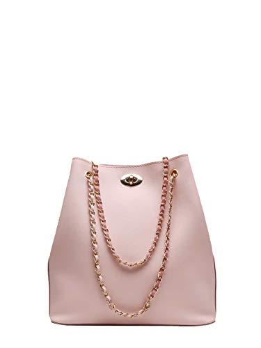 Bizarre Vogue Stylish Ladies Women Handbag Chain Strap (Peach,BV1225)