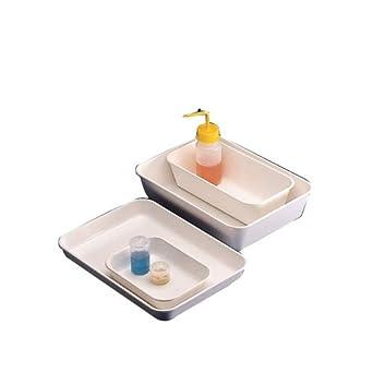 Kartell PK/5705 - Bandeja PS de alto impacto para productos alimenticios y uso general en laboratorio, 201 mm de largo x 151 mm de ancho x 41 mm de alto, 20 unidades: Amazon.es: Amazon.es