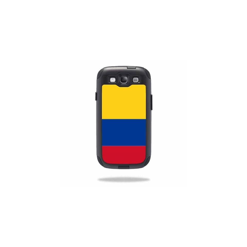 Mightyskins Protective Vinyl Skin Decal Cover for OtterBox Commuter Samsung Galaxy S III S3 Case wrap sticker skins Colombian Flag