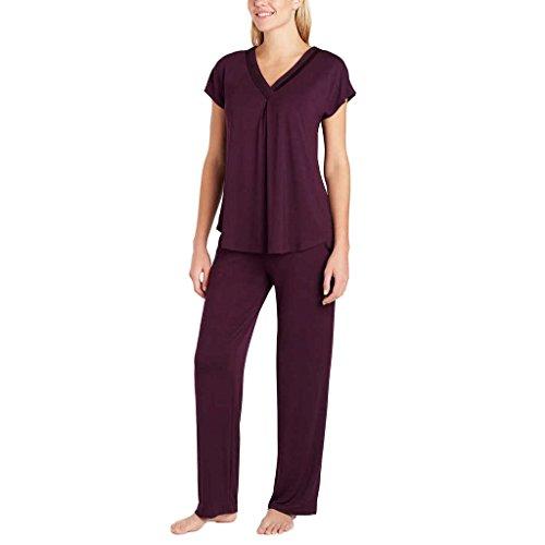 34b7d0a96724 Carole Hochman Midnight Ladies 2-piece Modal Pajama (Carole Hochman 2 Piece  Pajama Set