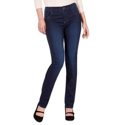 be4b015f490 RJR.John Rocha Womens Dark Blue  Elsa  mid-Rise Straight Jeans  RJR ...