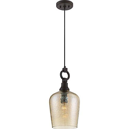 Quoizel CKKD1509WT Kendrick Bell Glass Mini Pendant Lighting, 1-Light, 100 Watts, Western Bronze (19