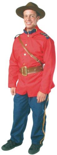 Large Men's Canadain Mountie Uniform Costume (Size 44-46)