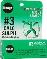 NuAge #3 Calc Sulph 6X 125 Tabs by Hyland's Homeopathic