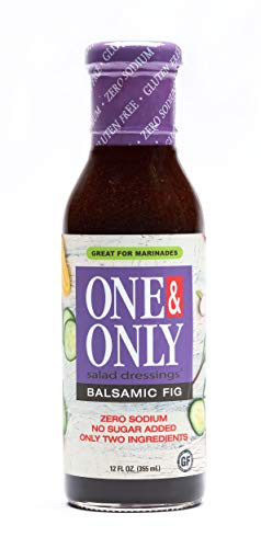 One&Only Balsamic Fig Salad Dressing, 12 fl.oz., No Sugar Added Keto Salad Dressing and Marinade, Only Two Ingredients, Made with non-GMO Ingredients, Gluten Free, Vegan, Zero Sodium.