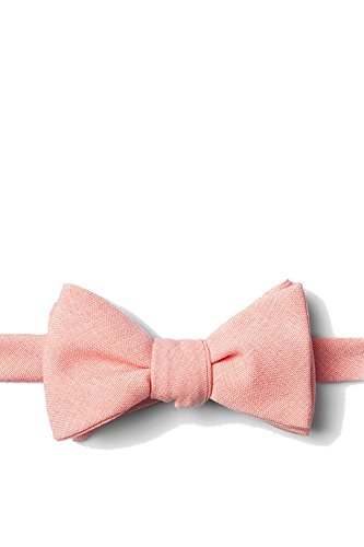 (Mens Tioga Coral Cotton Weave Butterfly Self Tie Bow Tie )