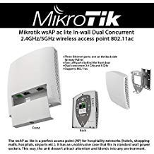 Mikrotik wsAP ac lite Wireless Access Point In-Wall Dual Concurrent 2.4GHz/5GHz ()