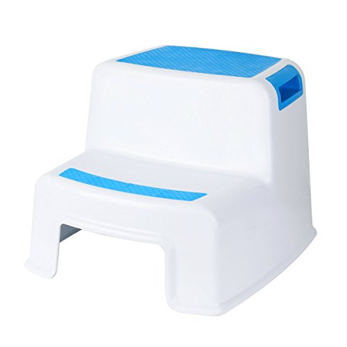 Cusfull Dual Height Two Step Stool for Kids, Toddler's Stool for Potty Training and Baby Exercise Two-Step Design Non-Slip and Safety (Childs Step)