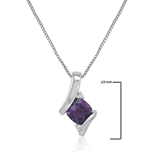 Boîte 45 necklace Et Chaîne Sterling Argent De 7 En Sur nbsp;cm Pendant Précieuse Diamant Pierre 7TFwpwqvU