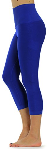 Royal Blue Womens Capris (Prolific Health High Compression Women Pants Yoga Fitness Leggings (Medium/Large, Royal Blue Capri))