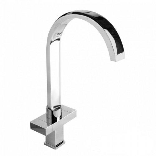 ENKI Modern Square Waterfall Chrome Kitchen Sink Mixer Utility Taps Swivel...
