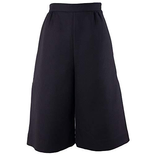 Dresses Valentino Designer - Valentino Black Wool High Waist Cropped Twill Culottes Pant Dress 40/2~RTL$1450